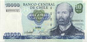Chile P.157c 10000 Pesos 2005 NB 9999705 (1)