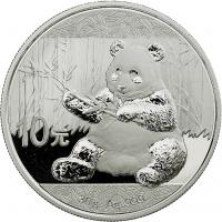 China 10 Yuan 2017 Silber-Panda