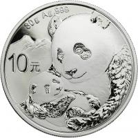 China 10 Yuan 2019 Silber-Panda
