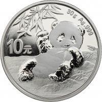 China 10 Yuan 2020 Silber-Panda