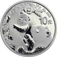 China 10 Yuan 2021 Silber-Panda