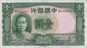 China P.078 1 Yuan 1936 Bank of China (1)