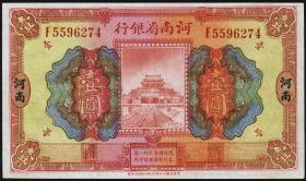 China P.S1688b 1 Yuan 1923 Honan Provincial Bank of Honan (2+)