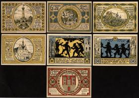 Notgeld Colditz 6 x 50 Pfennig