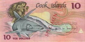 Cook Inseln / Cook Islands P.04s 10 Dollars (1987) Specimen (1)