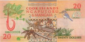Cook Inseln / Cook Islands P.09 20 Dollars (1992) BBB000008 (1)