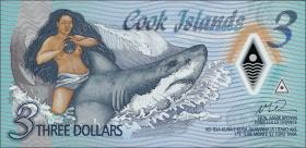 Cook Inseln / Cook Islands P.11 3 Dollars (2021) Polymer (1)