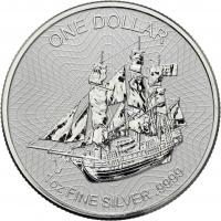 "Cook Island 1 Dollar 2017 ""Bounty"" Silber-Unze"
