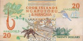 Cook Inseln / Cook Islands P.09 20 Dollars (1992) (1)