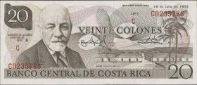 Costa Rica P.238a 20 Colones 1972 (1)