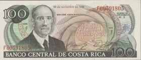 Costa Rica P.254 100 Colones 1988 (1)