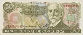 Costa Rica P.257 50 Colones 1991 (1)