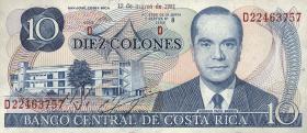 Costa Rica P.237b 10 Colones 1981-87 (1)