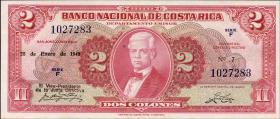 Costa Rica P.203c 2 Colones 1948 (1)