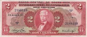 Costa Rica P.235 2 Colones 1967 (1)