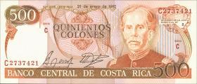 Costa Rica P.255 500 Colones 1987 (1)