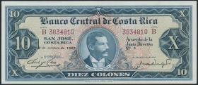 Costa Rica P.229 10 Colones 1967 (1)