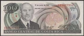Costa Rica P.258 100 Colones 1992 (1)