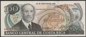 Costa Rica P.261 100 Colones 1993 (1)