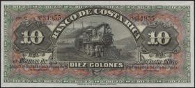 Costa Rica P. S174r 10 Colones (1901-06) unsigniert (1)