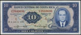 Costa Rica P.230b 10 Colones 1970 (1)