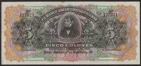 Costa Rica P. S122 5 Colones (1903-17) unsigniert (1)