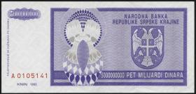 Kroatien Serb. Krajina / Croatia P.R18 5 Mrd. Dinara 1993 (1)