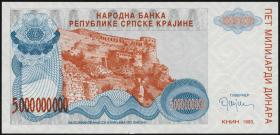Kroatien Serb. Krajina / Croatia P.R27 5 Mrd. Dinara 1993 (1)