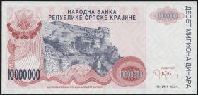 Kroatien Serb. Krajina / Croatia P.R34 10 Mio. Dinara 1994 (1)