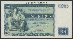 Tschechoslowakei / Czechoslovakia P.26s 1000 Kronen 1934 (1)