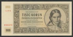 Tschechoslowakei / Czechoslovakia P.74s 1000 Kronen 1945 (1-)