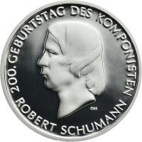 Deutschland 10 Euro 2010 Robert Schumann PP