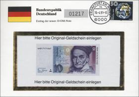 D-148.b • Gauß - Ersttag 10 DM-Note