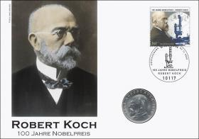 D-296 • Robert Koch - 100 Jahre Nobelpreis