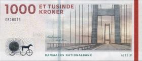 Dänemark / Denmark P.69a 1000 Kronen 2011 (1)