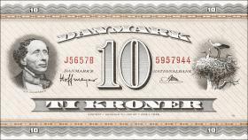 Dänemark / Denmark P.44y 10 Kronen 1965 (1)