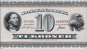 Dänemark / Denmark P.44ag 10 Kronen 1973 (1)