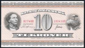 Dänemark / Denmark P.44ai 10 Kronen 1974 (1/1-)