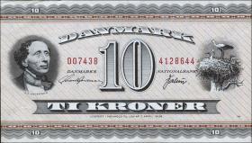 Dänemark / Denmark P.44ai 10 Kronen 1974 (1)