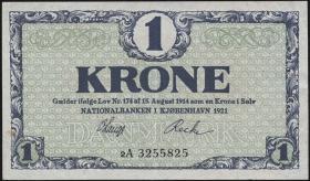 Dänemark / Denmark P.12g 1 Krone 1921 2A (2)