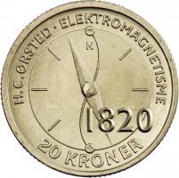 Dänemark 20 Kroner 2013 H.C. Örsted