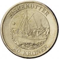 Dänemark 20 Kroner 2012 Fischkutter