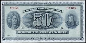 Dänemark / Denmark P.45k 50 Kronen 1966 (3)