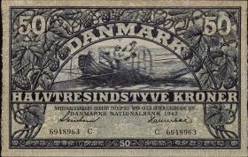 Dänemark / Denmark P.32d 50 Kroner 1942 (1)