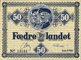 Dänemark / Denmark 50 Öre - 5 Kroner 1942 Propagandascheine (1)