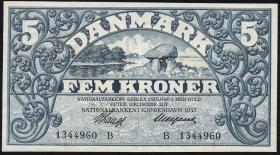 Dänemark / Denmark P.25e 5 Kroner 1933 B (2)