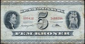 Dänemark / Denmark P.42o 5 Kronen 1958 (4)