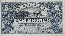 Dänemark / Denmark P.30j 5 Kroner 1943 J (1/1-)