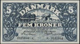 Dänemark / Denmark P.30k 5 Kroner 1943 K (1/1-)