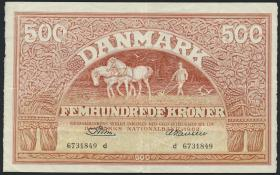 Dänemark / Denmark P.41k 500 Kronen 1962 (3)
